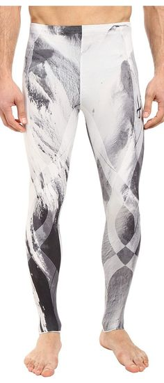 CW-X Generator Revolution Tights (Mount Fuji Print) Men's Casual Pants - CW