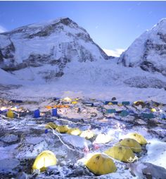 Such a cool photo of the camp at Mt. Everest. I love all the little headlamp light trails! #PinUpLive