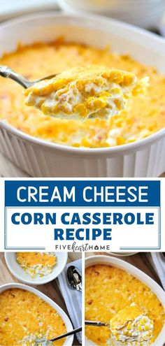 cream cheese recipes Cream Cheese Corn Casserole Recipe is always a hit! This decadent and comforting Easter side dish features sweet corn mixed with cream cheese and sharp cheddar Easter Side Dishes, Dinner Side Dishes, Veggie Side Dishes, Vegetable Dishes, Vegetable Recipes, Food Dishes, Corn Recipes, Side Dish Recipes, Fish Recipes