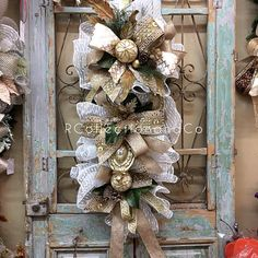 Christmas Swag Christmas Wreath Door Swag Christmas Decor