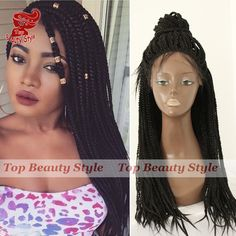 Find More Synthetic Wigs Information about High quality fashion synthetic fiber black braid wig synthetic lace front box braid wig women's black brading wig free shipping,High Quality wig black,China wig hairband Suppliers, Cheap wig wear from Princess hair Co., Ltd  on Aliexpress.com