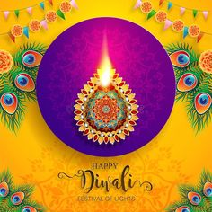 Illustration about Happy Diwali festival card with gold diya patterned and crystals on paper color Background. Illustration of ceremony, happiness, editable - 126122452 Happy Diwali Images Download, Happy Diwali Pictures, Happy Dussehra Wallpapers, Happy Diwali Wallpapers, Diwali Greetings, Good Night Greetings, Diwali Flowers, Diwali Wishes Quotes, Diwali Festival Of Lights