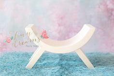 Image of Wooden stool, curved bench newborn baby photography prop newborn photo props UK made UK seller Newborn Posing, Newborn Shoot, Newborn Photography Props, Newborn Photo Props, Born Baby Photos, Balloon Pictures, Curved Bench, Prop Making, Wooden Stools