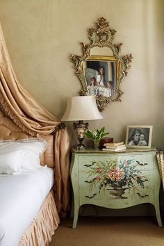 Discover bedroom design ideas on HOUSE - design, food and travel by House & Garden. See inside the romantic bedroom of Serena Foyle, firework designer. Romantic Bedroom, Traditional Bedroom Decor, Decor, Interior Design, Country Style Bedroom, Bedroom Decor, Furniture, Country Bedroom Decor, Country Bedroom