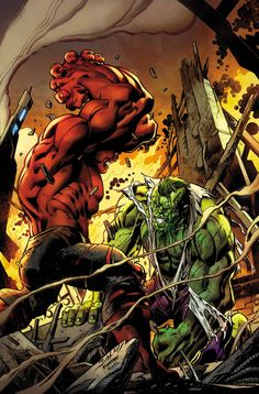 HULK #10 GERRY DUGGAN (W) • MARK BAGLEY (A/C) OMEGA HULK + RED HULK = MASS SMASH DESTRUCTION! • MATT MURDOCK VERSUS DOC GREEN in an oral argument. • RED HULK VERSUS DOC GREEN in the opposite of the first disagreement. • Something bad happens at the BEEHIVE. (Hint: see above) 32 PGS./Rated T …$3.99