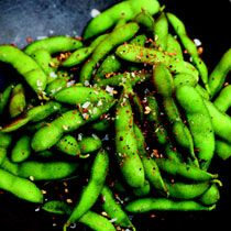 Warm Edamame with Seven-Spice Powder     Recipe adapted from Cooking in the Moment by Andrea Reusing (Clarkson Potter)