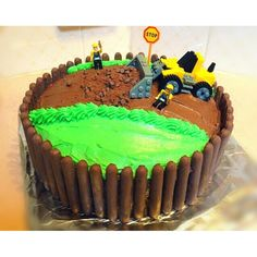 Need someone to make a childrens birthday cake?? Completely customized with a personal touch to make any childs special day even more special  #birthdaycake #cakes #hayleescakes #bulldozer #customcakes