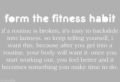 Form the fitness habit.