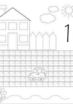 Math Coloring Worksheets, Tracing Worksheets, Alphabet Worksheets, Preschool Worksheets, Preschool Writing, Numbers Preschool, Preschool Learning Activities, Kids English, Second Grade Math