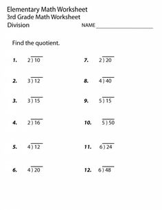 3rd Grade Math Worksheets   Math Worksheets for 2nd and ...