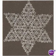 Tat Doily Pattern Daisy Triangle Star Doily Listing in the Tatting & Lacemaking Kits,Tatting & Lacemaking,Needlework,Crafts, Handmade & Sewing Category on eBid United States Shuttle Tatting Patterns, Needle Tatting Patterns, Crochet Stars, Thread Crochet, Crochet Curtains, Crochet Doilies, Crochet Butterfly Free Pattern, Tatting Tutorial, Christmas Crochet Patterns