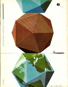 Erik Nitsche Illustration 7    Gebrauchsgraphik cover, No. 6, 1961
