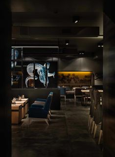 """Image 3 of 14 from gallery of Meat Restaurant """"Sazha"""" / YOD design lab. Photograph by Andriy Avdeenko Bar Interior, Restaurant Interior Design, Commercial Interior Design, Commercial Interiors, Meat Restaurant, Restaurant Tables, Restaurant Restaurant, Pop Design, Design Lab"""