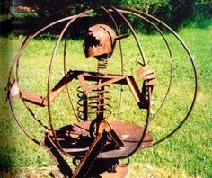 cool junk metal yard art