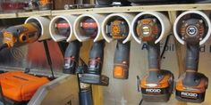 This simple storage solution will give you instant access to your most-used power tools.