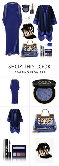 """Plus I Don't Care"" by felicitysparks ❤ liked on Polyvore featuring Mascara, Gucci, Lands' End, Dolce&Gabbana, LORAC, Gianvito Rossi, Essie and plus size clothing"