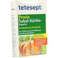 TETESEPT Prosta Sabal-Kürbis-Kapseln:   Packungsinhalt: 90 St Weichkapseln PZN: 03401685 Hersteller: Merz Consumer Care GmbH Preis: 6,99…