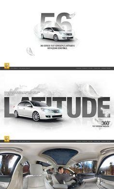20 Automotive Website Designs For Your Inspiration - Hongkiat Site Web Design, Web Banner Design, Layout Design, Website Designs, Web Banners, Car Advertising, Advertising Design, Design Poster, Graphic Design