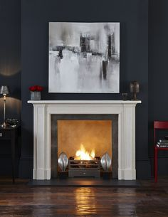 What's your favourite way to unwind at home? Fireplaces can play a big part in helping you relax. Click through to find out more. Living Room Plan, Living Room Grey, Interior Design Living Room, Living Room Decor, Interior Decorating, Bedroom Decor, Living Rooms, Home Fireplace, Fireplaces