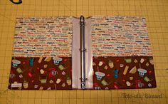 A Tote-ally Blessed Life: Fabric Covered Recipe Binder {DIY}