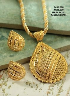 Gold Earrings Designs, Gold Jewellery Design, Necklace Designs, Mom Jewelry, Gold Accessories, Jewelry Patterns, Sell Gold, Gold Necklaces, Pendant Set