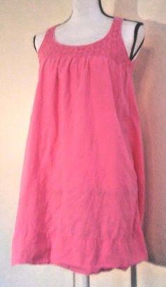 Tommy Bahama Women's Dress Size XS Cotton Pink Crochet Lace Sun Spring Summer #TommyBahama #BeachDress #Casual