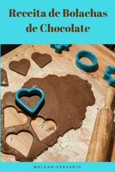 Receita fácil de bolachas de chocolate Biscotti, Confort Food, Good Food, Yummy Food, Bread Cake, Whoopie Pies, Desert Recipes, Chocolate Recipes, Sugar Cookies