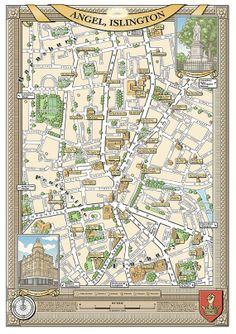 25 Best Illustrated maps of London images