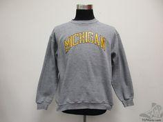 Vtg Russell Athletic Michigan Wolverines Crewneck Sweatshirt sz XL UM University Vintage by TCPKickz on Etsy
