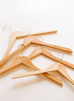 DIY Personalized Bridesmaids Hangers