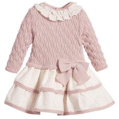 e313c9bc4 Mayoral Baby Girls Ivory Knitted Coat   Bonnet at Childrensalon.com ...