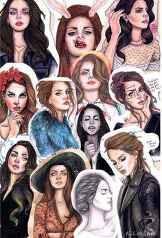 Lana Del Rey #LDR #collage #art by Jesus Diego