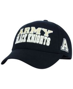 Top of the World Army Black Knights Teamwork Cap - Black Adjustable