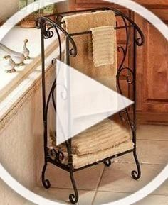Buy Wrought Iron Towel Rack Shelf Towel Rack Floor Bathroom Towel Hanging Support Wholesale In Cheap Price On M Alibaba Com In 2020 Diy Bedroom Decor Hang Towels In Bathroom Home Decor
