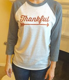 Thankful Sparkle Baseball Raglan Tee. Christmas Shirts for Women. Christmas Clothes. by MintElephantTeeCo on Etsy https://www.etsy.com/listing/256584672/thankful-sparkle-baseball-raglan-tee