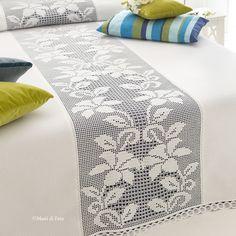 PDF Crochet bedspread pattern bedcover Crochet by Marypatterns Filet Crochet, Crochet Motifs, Crochet Quilt, Crochet Art, Thread Crochet, Irish Crochet, Crochet Doilies, Crochet Patterns, Blanket Crochet