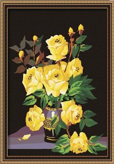 paint by numbers kit roses picture - Google Search