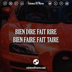 Bien dire fait rire, bien faire fait taire.  #motivation #citations #citation…
