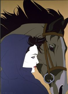 """Montana"" by Patrick Nagel -- I have this print right now. All I need is a 30x38 inch frame, and she's back on the wall."