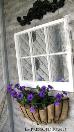 Mirrored window with window box - gallery of garden ideas