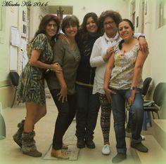 Con Patto, Betty, Idaly y Karen.