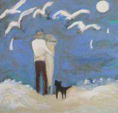 """Windy Day Couple"" 36x36 by karen bezuidenhout sold"