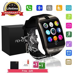 Bluetooth Smart Watch Touchscreen with Camera,Unlocked Watch Cell Phone with Sim Card Slot,Smart Wrist Watch,Waterproof Smartwatch Phone for Android Samsung IOS Iphone 7 6S Men Women Kids - ➤Note:For ANDROID, all functions can be used. For iPHONE,the smartwatch/watch cell phone supports Partial Functions including Hands Free,Music Player,Sync Calls,Sedentary Remind,Sleep Monitor,Pedometor,Calculator,Clock,Calender NOT SUPPORT BT Notifications,Sync Message,Remote Notifier,Send...
