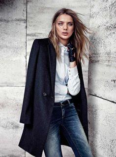 Строгое пальто в мужском стиле – тренд осени 2013