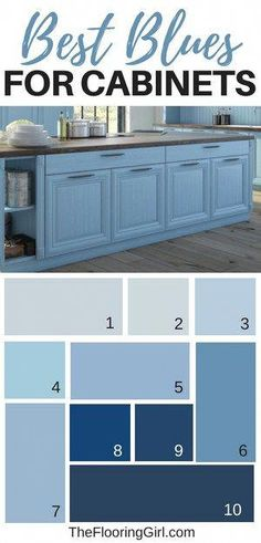 Modern And Trendy Kitchen Cabinets Ideas And Design Tips – Home Dcorz Navy Blue Kitchen Cabinets, Painting Kitchen Cabinets, Blue Walls In Kitchen, Painted Bathroom Cabinets, Blue Kitchen Ideas, Nice Kitchen, Kitchen Taps, Kitchen Counters, Kitchen Modern