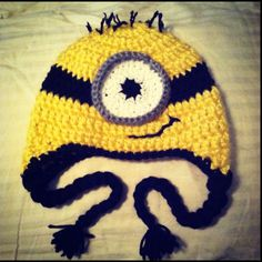 Despicable Me Minion Beanie.  I'm so not a hat person at all.  This though, this I would wear