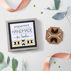 Native Symbols Brooch, Native Wood Jewellery, Laser cut Wood, Walnut Wood, Native pin, Personalized box, Gold Mirror