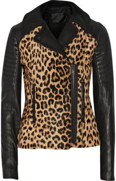 Lee leopard-print calf hair and leather biker jacket and other apparel, accessories and trends. Browse and shop 8 related looks. Leopard Fashion, Animal Print Fashion, Fashion Prints, Leopard Print Jacket, Leopard Prints, Animal Prints, Cheetah Print, Black Biker Jacket, Moto Jacket