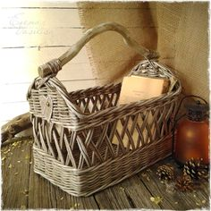 weaving of paper. vintage basket