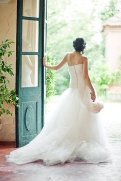 Gown perfection? We think so. Photography by lisapoggi.com, Dress by stellatayler.it